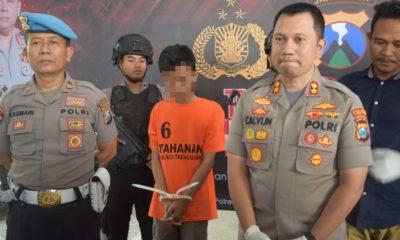 SESAL : Polisi amankan pelaku beserta barang buktinya. (mil)