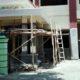 Kantor Kesbangpol Trenggalek masih dalam proses renovasi. (mil)