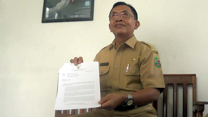 Kepala Dinas Perindustrian dan Tenaga Kerja Kabupaten Trenggalek Nanang Budiharto. (mil)