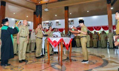Bupati Arifin Resmi Lantik 77 Pejabat Pemkab Trenggalek