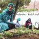 Ketua TP PKK Kabupaten Trenggalek, Novita Hardiny saat menanam rempah - rempah di rumah dinas. (ist)