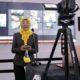 Juru Bicara Covid-19 Kabupaten Trenggalek Dr Murti Rukiyandari saat mengumumkan pasien sembuh dan tambahan pasien Positif Corona via telekonferens di gedung Smart Center. (ist)