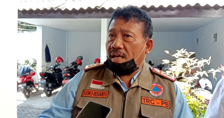 Kalaksa BPBD Trenggalek, Joko Rusianto saat dikonfirmasi usai rapat di Aula gedung DPRD. (ist)