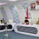 Bupati Trenggalek Mochamad Nur Arifin meluncurkan aplikasi Petung Dadi di gedung Smart Center. (ist)