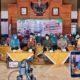 Bupati Trenggalek bersama Forkopimda melaunching Gerakan Sejuta Masker di Pendopo Manggala Praja Nugraha