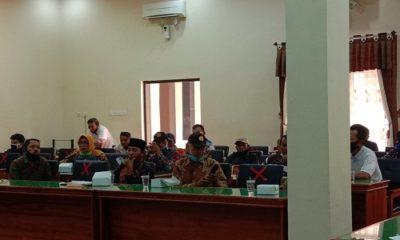 HEARING: Suasana hearing kelompok tani di Kecamatan Munjungan dengan Komisi 2 DPRD Trenggalek.