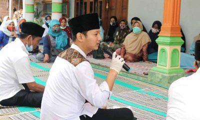 Cabup Arifin saat istighosah bersama ibu-ibu di Trenggalek - Cabup Arifin Sampaikan Salam Takzim Ke Kyai Dan Santri