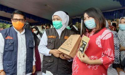 Pemkab Trenggalek saat menerima kunjungan Gubernur Jatim di Pendopo Manggala Praja Nugraha.