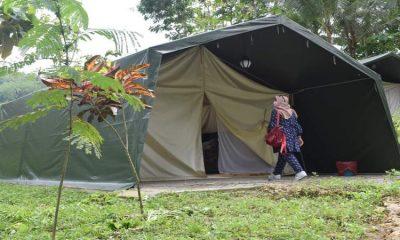 Wahana yang ada di Wisata Tebing Lingga Desa Nglebo Kecamatan Suruh Kabupaten Trenggalek, ada Glamping, Flying fox dan Climbing.